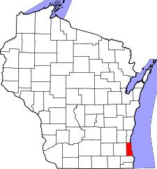 Map of Milwaukee Radon Mitigation Mitigators Service Area & Testing 2321 S 69th St West Allis WI 53219 414-433-9400