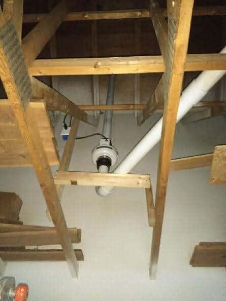Milwaukee Radon Mitigation Mitigators 2321 S 69th St, West Allis, WI 53219 414-433-9400 Tucked away installation https://radontestmitigation.com/